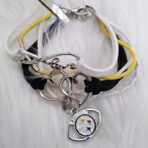 Pittsburgh Steelers Multi-Charm Bracelet